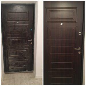 Миття дверей після ремонту