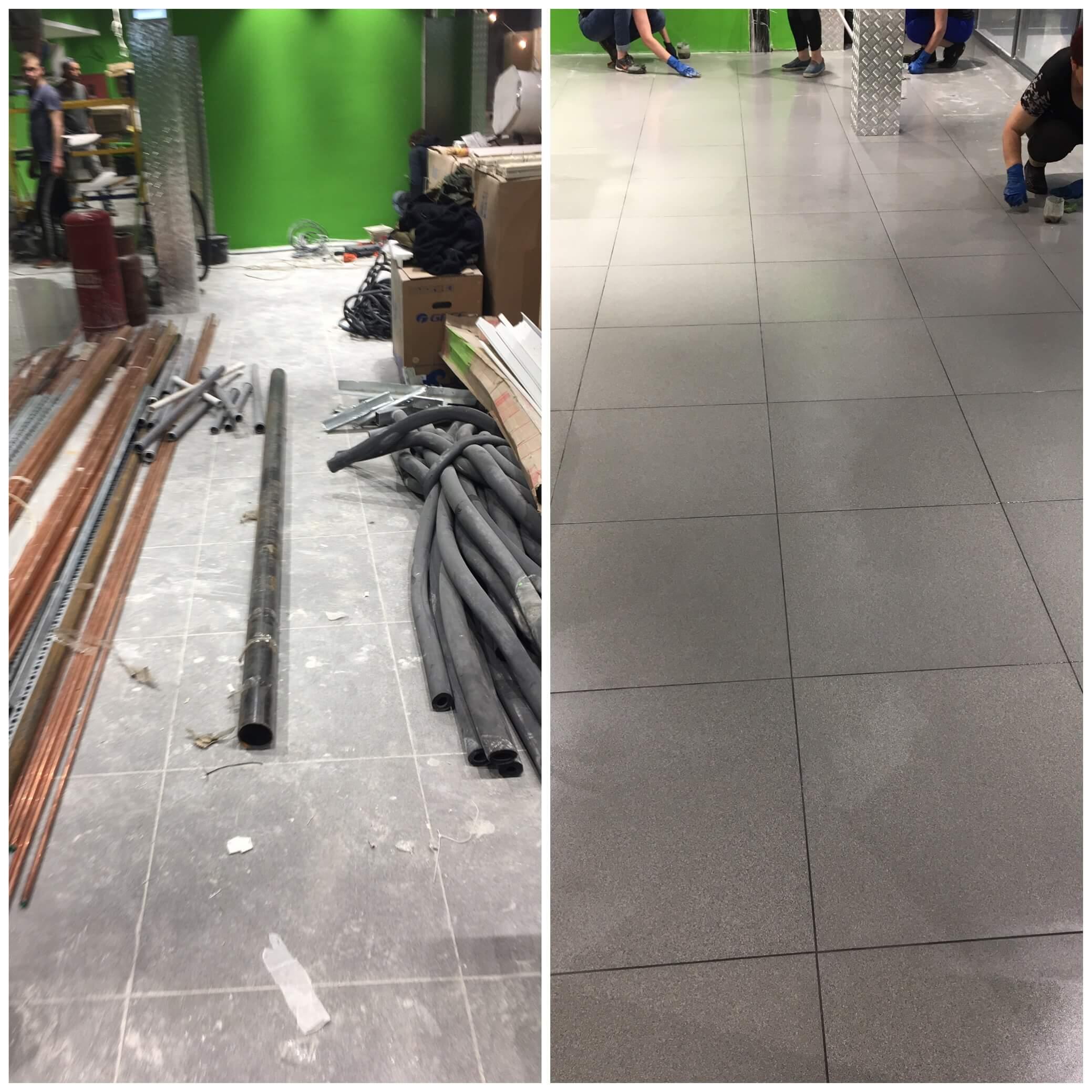Підлога після прибирання