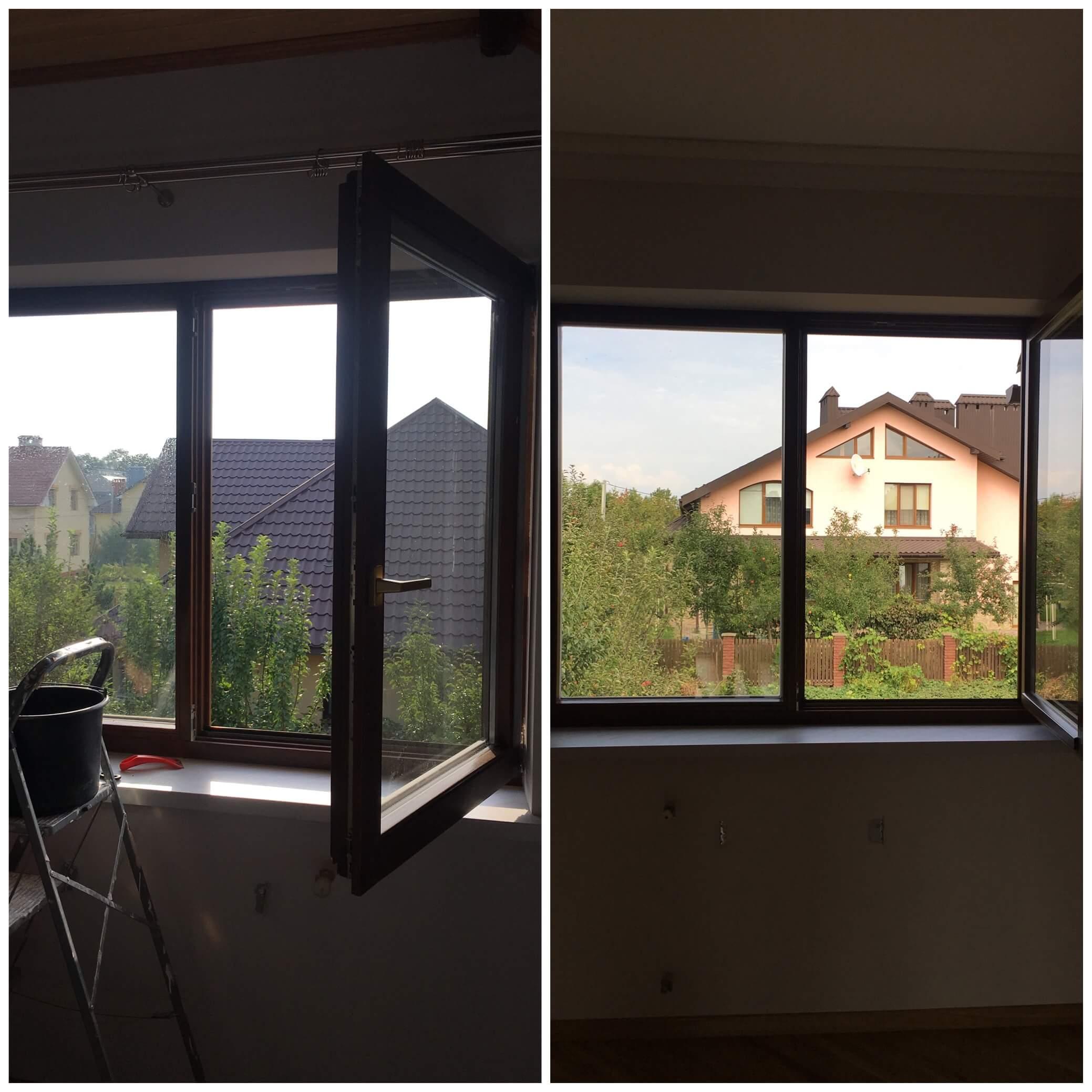 Брудні вікна після ремонту