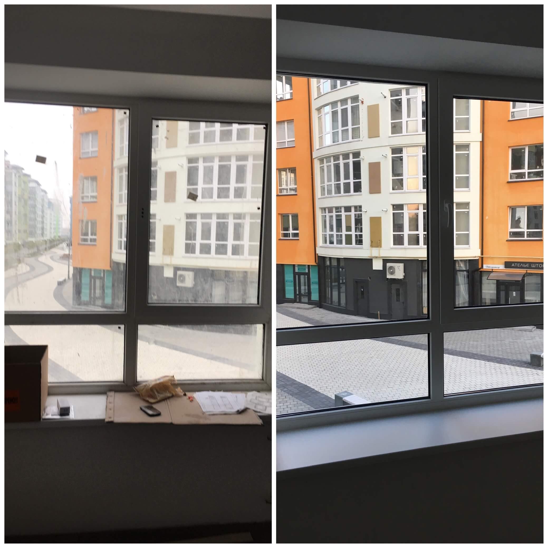 Прибирання вікон в квартирі