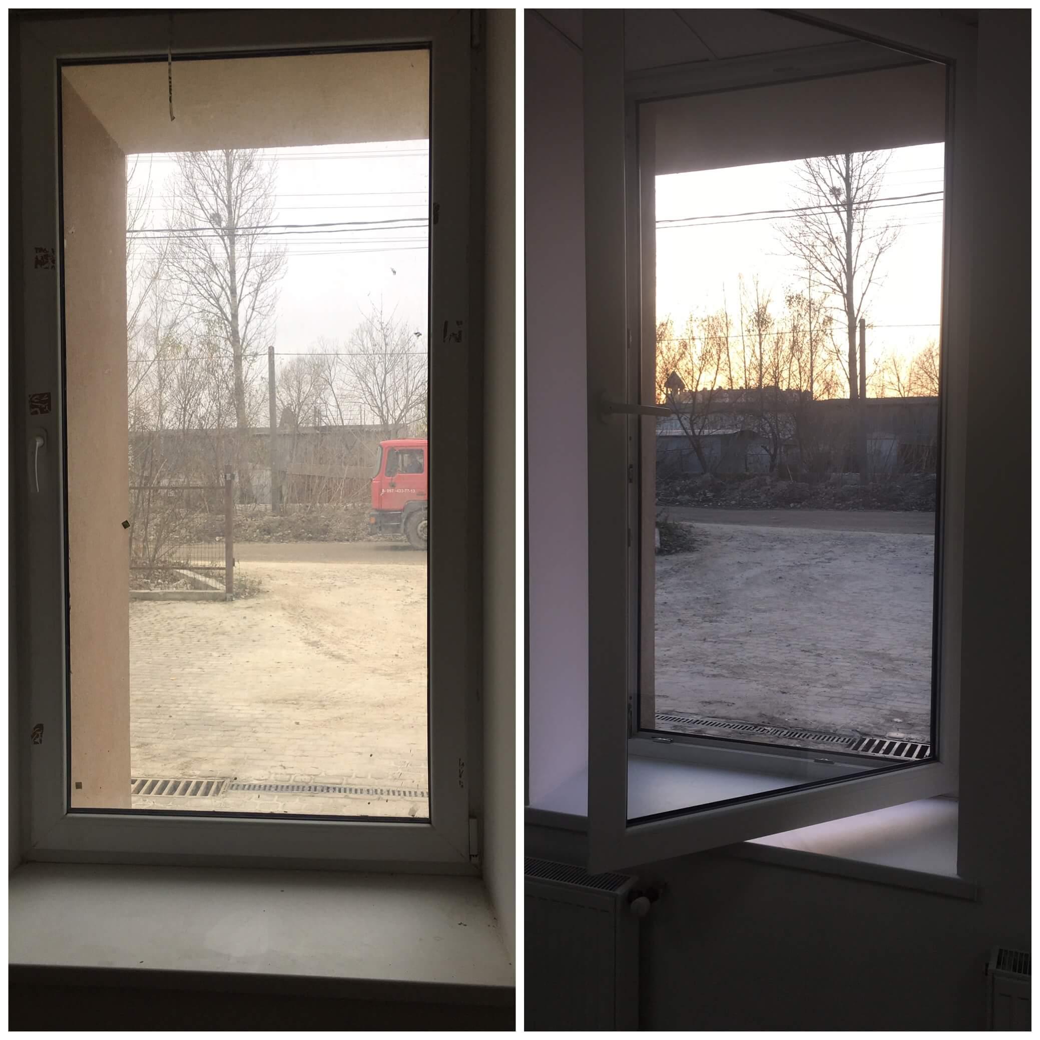 Помити великі вікна